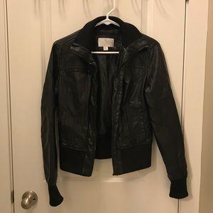 Mossimo black leather jacket