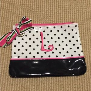 "Mud Pie ""L"" Monogram Cosmetic Case"