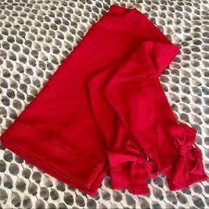 Tops - | adorable red bow sleeve sweatshirt |