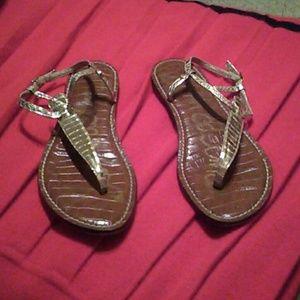 Sam Edelman gold sandals sz 10