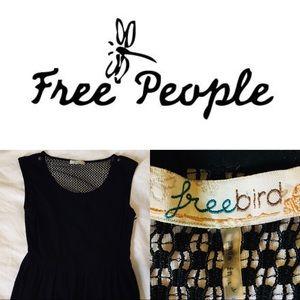 🐃 Free People Black Lace Back Dress (NWOT)