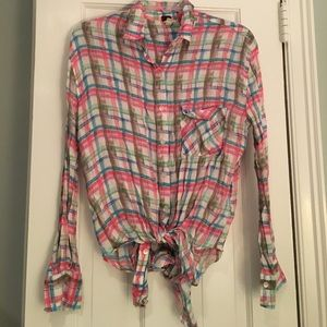 We the free button down xs