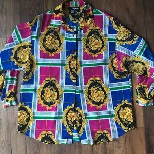 Vintage Print colorful Blouse