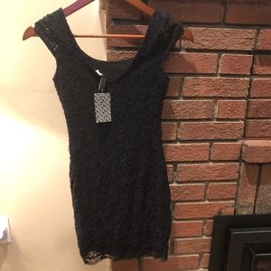 Black extra small dress with lace