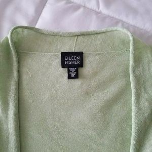 Eileen Fisher Lightweight Tie Front sweater SZ XL