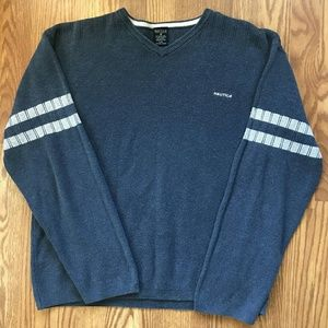 Vtg Nautical Jeans Co Small Spellout Sweater