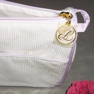 Estee Lauder cosmetic make up bag lilac, NEW!