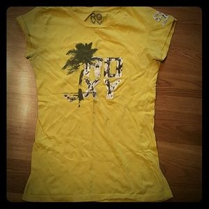 Yellow roxy shirt