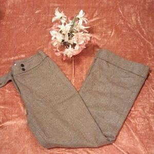 Loft pants, 8 brown with pattern