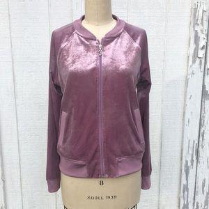 Juicy Couture Lavender Velvet Jacket Sz M