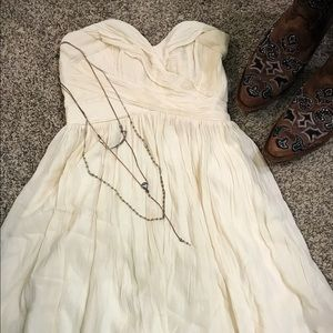 French Connection Strapless Cream Dress