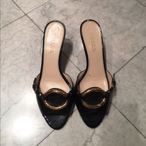 Prada kitten-heeled mules