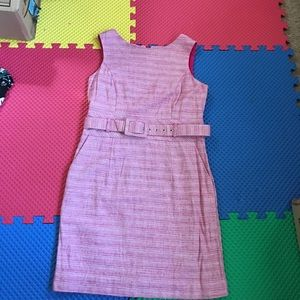 Banana Republic pink striped cocktail dress