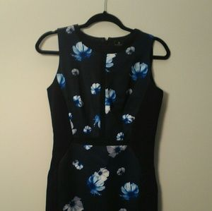 Worthington Blue Flower Dress