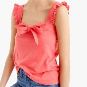 J. Crew Bow Top Embroidered Trim Tank. Small. NWT