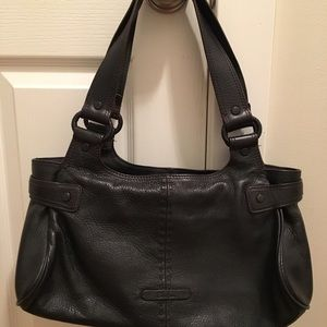 Cole Hann black leather purse