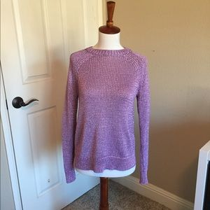 💜 J.Crew Metallic Purple Sweater NWT Size XXS💜