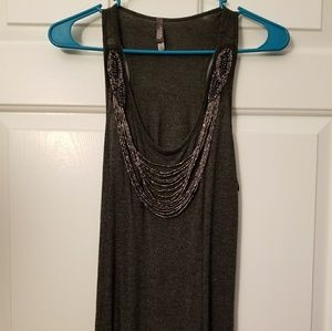 Charlotte Russe tank top w/necklace design