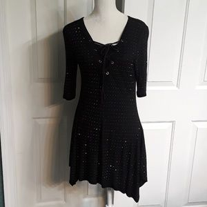 Beautiful black bling dress or top with ties