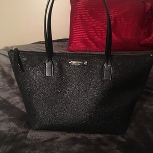 Kate spade black glitter purse