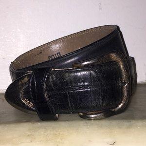 Accessories - Vintage Brass & Leather Belt