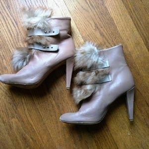 Rebecca Minkoff fur bootie 9  heels 208259