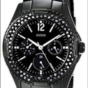 Black Guess women's classic multi-function watch