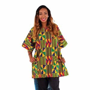 Kente Print Dashiki top shirt