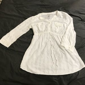 Motherhood Maternity 100% Cotton White Shirt
