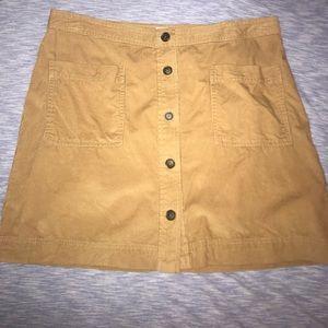 button down corduroy skirt
