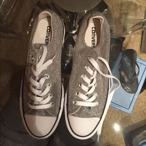 Converse sparkle grey sneakers
