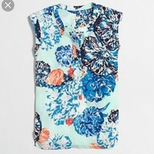J. Crew Factory printed drapey popover shirt