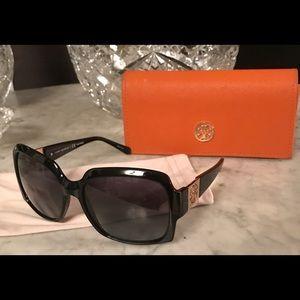 Tori Butch Oversized Black Sunglasses