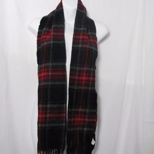 Hugo Boss Holiday Plaid Scarf  Wool Germany 63 ins