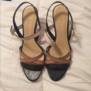Cole Haan heels - black, tan, white
