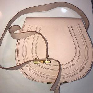 Chloe Marcie saddle bag medium calfskin neutral