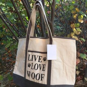 Live Love Woof Heavy Duty canvas bag
