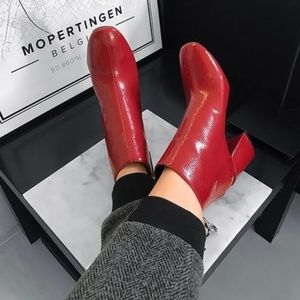 Red Patent Boots