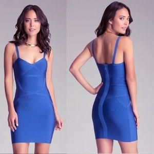 Bebe • Triangle Bandage Blue Dress