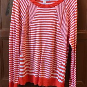 Michael Kors Sweater - Size XL - Orange/White