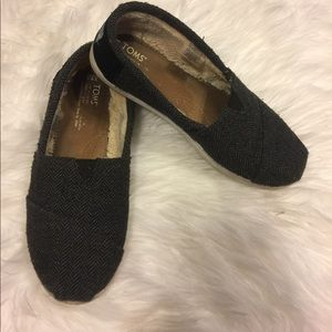 Lined toms size 5.5 grey and black
