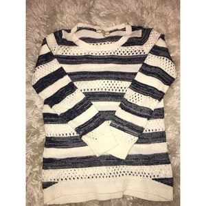 Navy and white knit sweater!! Brand new!