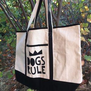 Dogs Rule 🐕 Heavy Duty canvas bag