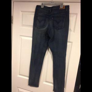 Levi's high waist stretch skinny jeans
