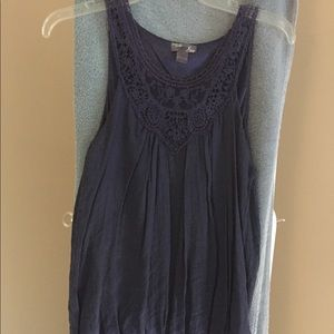 Vintage navy tunic top