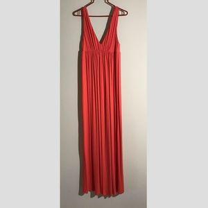 J.Crew orange v-neck maxi dress