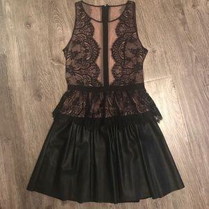 BCBG Layton black lace dress Sz 6
