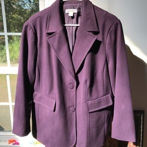 Purple Cold Water Creek Blazer 20/22.