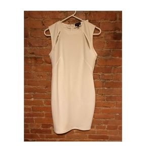 TOPSHOP White Cut Out Dress in Women