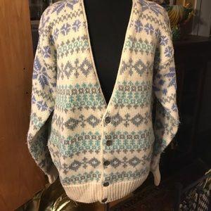 Vintage GAP wool Nordic style cardigan size S